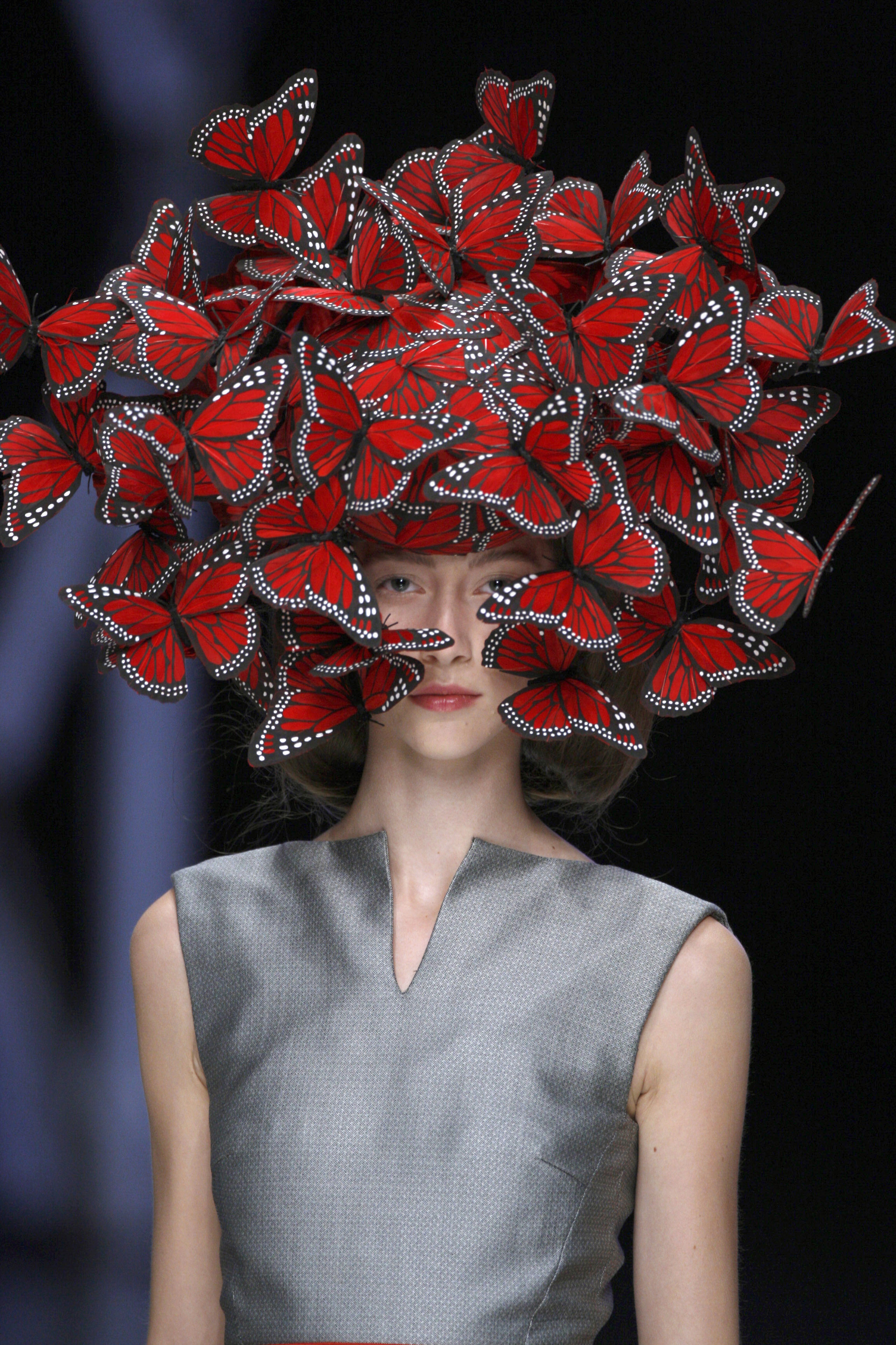 2._Butterfly_headdress_of_hand-painted_turkey_feathers_Philip_Treacy_for_Alexander_McQueen_La_Dame_Bleu_Spring_Summer_2008_copyright_Anthea_Sims_1